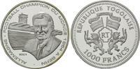 1000 Francs 2001, Togo, Fußball-WM, PP  29,00 EUR kostenloser Versand