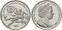 10 Dollars 2004, Britische Jungferninseln, Fußball-WM 2006 in Deutschla... 28,00 EUR kostenloser Versand