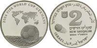 2 Schekel 2004, Israel, Fußball-WM 2006 in Deutschland, PP  26,00 EUR kostenloser Versand