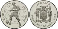 25 Dollars 1994, Jamaika, Fußball-WM 1994, PP  21,00 EUR kostenloser Versand