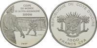 1000 Francs 2007, Elfenbeinküste, Fußball-WM 2006 in Deutschland, PP  38,00 EUR kostenloser Versand