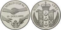 10 Dollars 1991, Niue, Fußball-WM 1994, PP  22,00 EUR kostenloser Versand