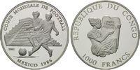 1000 Francs 2001, Kongo, Fußball-WM, PP  35,00 EUR kostenloser Versand
