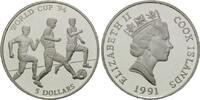 5 Dollars 1991, Cook Islands, Fußball-WM 1994, PP  13,00 EUR kostenloser Versand