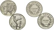 50000 Lira 1994, Türkei, Lot von 2 Münzen: Fußball-WM, PP  58,00 EUR kostenloser Versand