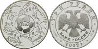3 Rubel 2002, Russland, Fußball-WM 2002, PP  55,00 EUR kostenloser Versand
