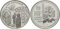 6,55957 Francs / 1 Euro 1999, Frankreich, Kunst der Gotik, PP  19,00 EUR kostenloser Versand
