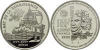 6,55957 Francs / 1 Euro 2000, Frankreich, Kunst der Renaissance, PP  29,00 EUR kostenloser Versand