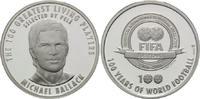 Medaille 2002, Deutschland, 100 Jahre Fifa, Porträt Michael Ballack, PP  10,00 EUR  zzgl. 6,40 EUR Versand