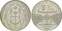 5 Euro 2004, Italien, Fußball-WM 2006 in Deutschland, PP, feine patina  26,00 EUR kostenloser Versand