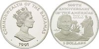 5 Dollars 1991, Bahamas, Christopher Columbus 1492, Königspaar Ferdinan... 26,00 EUR kostenloser Versand