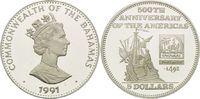 5 Dollars 1991, Bahamas, Christopher Columbus auf Deck der 'Santa Maria... 26,00 EUR kostenloser Versand