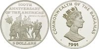 5 Dollars 1991, Bahamas, Christopher Columbus 12.Oktober 1492, Begegnun... 26,00 EUR kostenloser Versand
