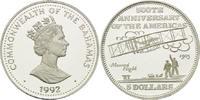 5 Dollars 1992, Bahamas, Orville und Wilbur Wright, Doppeldecker 1903, ... 26,00 EUR kostenloser Versand
