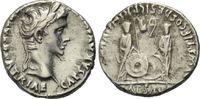 AR Denar 7-6 v. Chr., Römisches Reich, Aug...