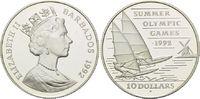 10 Dollars 1992, Barbados, Olympiade Barcelona 1992 - Surfen l.ber. off... 21,00 EUR kostenloser Versand