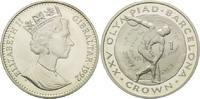 1 Crown 1992, Gibraltar, Olympiade Barcelona 1992 - Diskuswerfer vor an... 29,00 EUR kostenloser Versand
