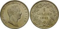 Gulden 1843, Baden, Leopold, 1830-1852, kl.Kr., vz  168,00 EUR kostenloser Versand