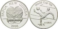 5 Kina 1998, Papua Neu Guinea, Fußball WM 98 Frankreich, Fußballer beim... 26,00 EUR kostenloser Versand