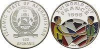500 Afghanis 1996, Afghanistan, Fußball WM 98 Frankreich, Farbmünze Wim... 19,00 EUR kostenloser Versand
