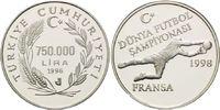 750.000 Lira 1996, Türkei, Fußball WM 98 Frankreich - Torwart, PP  26,00 EUR kostenloser Versand
