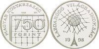 750 Florint 1997, Ungarn, Fußball WM 98 Frankreich - Ball im Netz, PP  15,00 EUR kostenloser Versand