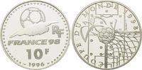 10 Francs 1996, Frankreich, Fußball WM 98 Frankreich - Ball zerreißt To... 16,00 EUR kostenloser Versand