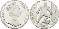 1 Crown 1998, Gibraltar, Fußball Weltmeisterschaft 98 Frankreich - Stür... 26,00 EUR kostenloser Versand