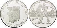 1000 Francs 1996, Kongo Republik, Fußball Weltmeisterschaft 98 Frankrei... 26,00 EUR kostenloser Versand