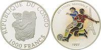 1000 Francs 1997, Kongo Republik, Fußball Weltmeisterschaft 98 Frankrei... 26,00 EUR kostenloser Versand