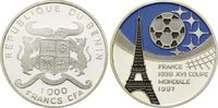 1000 Francs CFA 1997, Benin, Fußball Weltmeisterschaft 98 Frankreich, F... 21,00 EUR kostenloser Versand