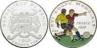 1000 Francs CFA 1996, Benin, Fußball Weltmeisterschaft 98 Frankreich, F... 21,00 EUR kostenloser Versand