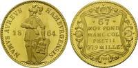 Dukat 1864 (NP 1964), Hamburg, Freie und Hansestadt - Nachprägung st  275,00 EUR kostenloser Versand