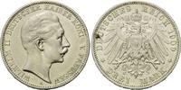 3 Mark 1909 A, Preussen,  Broschierspur, ss  15,00 EUR kostenloser Versand