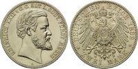 2 Mark 1892, Reuss, Ältere Linie,  min.Kr., st  1640,00 EUR kostenloser Versand