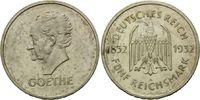 5 Reichsmark 1932 A, Weimarer Republik, Zum 100. Todestag Goethes, flec... 2860,00 EUR kostenloser Versand