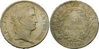 5 Francs 1810 A, Frankreich,  l.prägeschw., fein.Kr., vz+  350,00 EUR kostenloser Versand