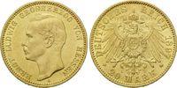 20 Mark 1897, Hessen,  winz.Kr., vz/f.st  1025,00 EUR kostenloser Versand