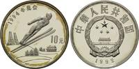 10 Yuan 1992, China, Olympia 1994 in Lillehammer, fleck.Patina, PP  26,00 EUR kostenloser Versand
