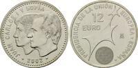12 Euro 2002, Spanien, EU-Präsidentschaft, st  35,00 EUR kostenloser Versand