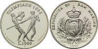 1000 Lire 1995, San Marino, Olympische Sommerspiele 2004 in Athen, PP  14,00 EUR kostenloser Versand