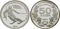 50 Lewa 1992, Bulgarien, Olympische Winterspiele 1994 in Lillehammer, PP  12,00 EUR kostenloser Versand