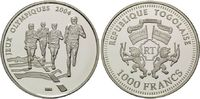 1000 Francs 2003, Togo, Olympischen Sommerspiele 2004 in Athen, PP  22,00 EUR kostenloser Versand