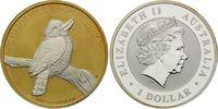 Dollar 2010, Australien, Kookaburra, Teilvergoldet und -rhodiniert, st  45,00 EUR kostenloser Versand