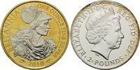 2 Pounds 2010, Großbritannien, Britannia, Teilvergoldet und -rhodiniert... 35,00 EUR kostenloser Versand