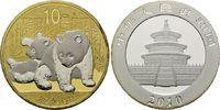 10 Yuan 2010, China, Panda, Teilvergoldet und -rhodiniert, st  54,00 EUR kostenloser Versand