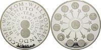 Silber-Medaille 1999, Europa, Willkommen Euro, Etui, Zertifikat, PP  185,00 EUR kostenloser Versand