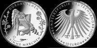 10 Euro 2015, Deutschland, Grimms Märchen - Dornröschen, Folder, PP  36,00 EUR kostenloser Versand
