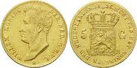 5 Gulden 1826 B, Niederlande, Willem I., 1815-1840, l.just., ss  670,00 EUR kostenloser Versand