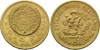 20 Pesos 1918, Mexiko, Kalenderrelief, kl.Rdf., kl.Kr., ss-vz  685,00 EUR kostenloser Versand